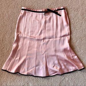 Express Dusty Rose Pink Skirt 100% Silk Size 8